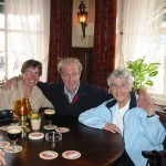 In a Dutch Cafe in 2003: Me, cousin Ed and Mom
