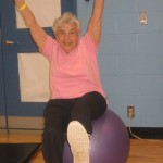 Mom at 80 on her exercise ball