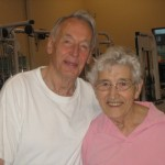 Dad and Mom (80) at the gym