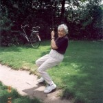 Mom on a swing in 2000