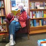 Mom at 82 still loves reading at Banyen Books