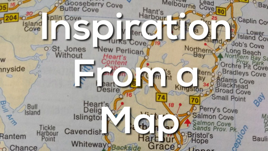 inspiration from a map