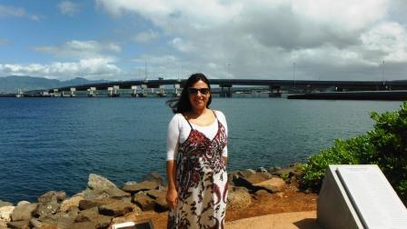 Jessica Pelham at Pearl Habour