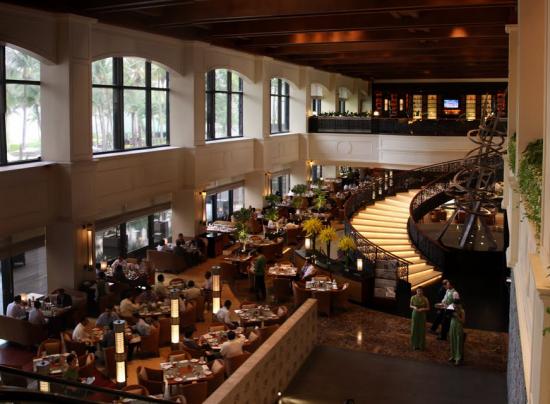 interior of Spiral Restaurant