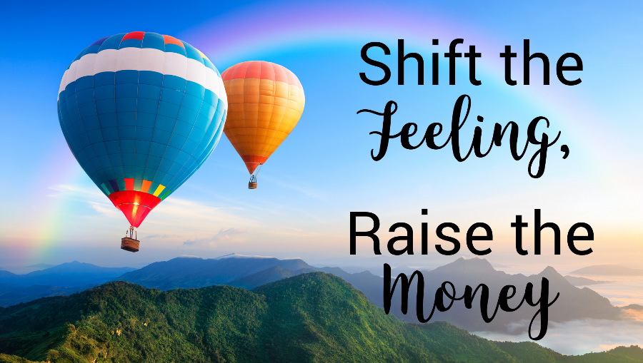 Shift the Feelings, Raise the Money - Colorful Hot Air Balloons Rising