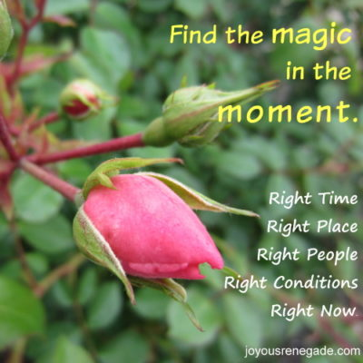 This Magic Moment - Right Place, Right Time, Right Way