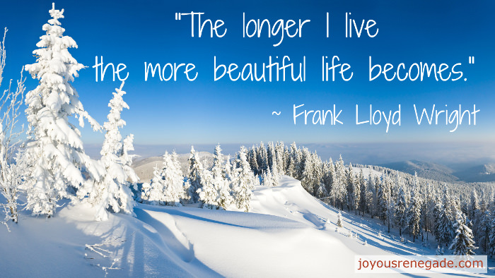 The longer I live the more beautiful life becomes. - Frank Lloyd Wright